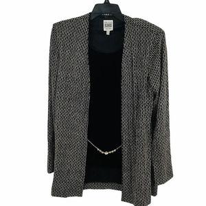 R&M Richards Karen Kwong Sparkle velvet jacket set